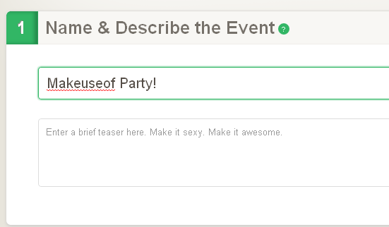 make event page