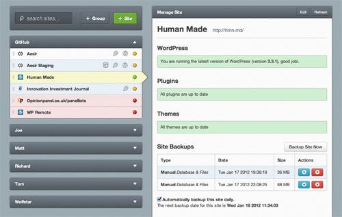 WPRemote: Monitor & Manage Multiple WordPress Sites With One Program wpremote1
