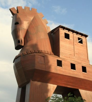 difference between worm and trojan horse