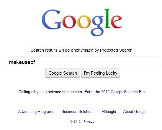 protect google search history