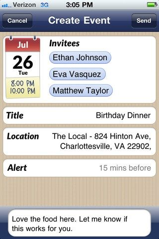 schedule event dates