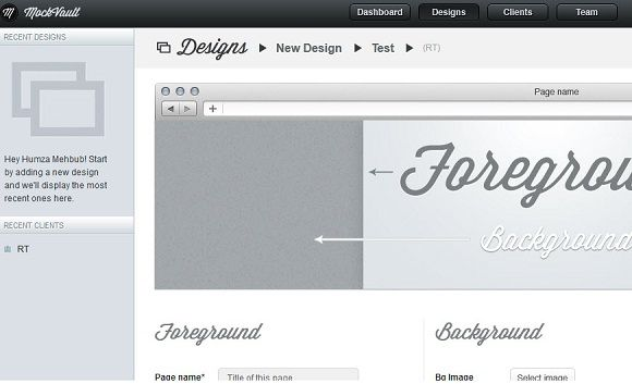 share designs with clients