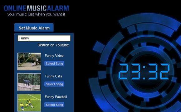 use youtube video as alarm