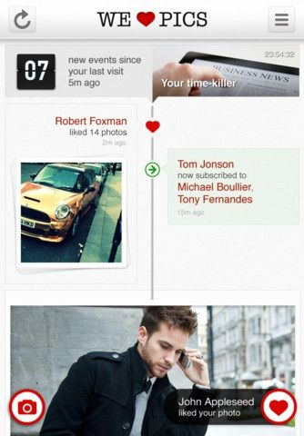 WeHeartPics: Get Most Important Updates About Your Friends With Photographs Pics