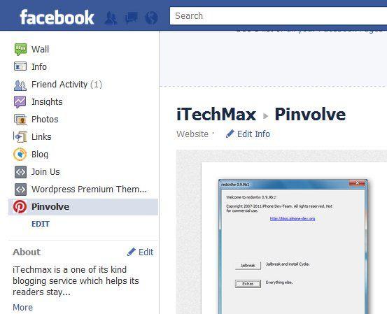 button to facebook