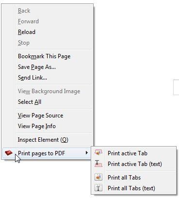 print web pages to pdf