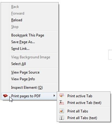 print web pages to pdf