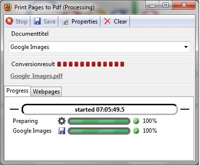 print pages to pdf