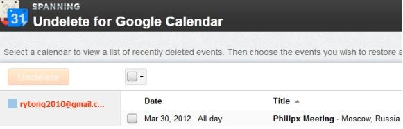 recover deleted google calendar events