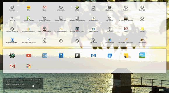 new tab page chrome