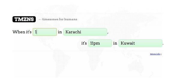 compare different time zones