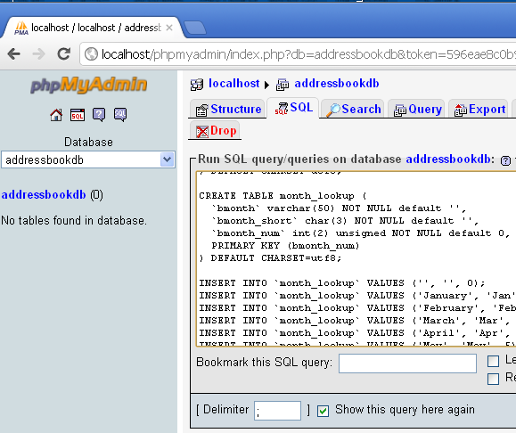 Create your own home address book server with php address book - Design your own home application ...