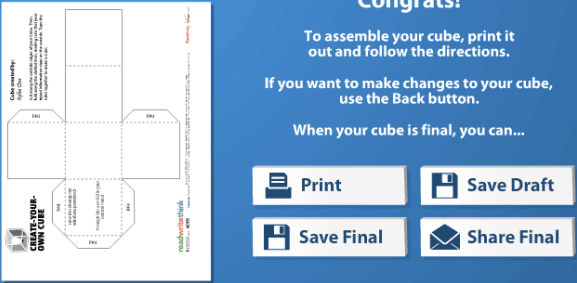 Cube Creator: Get Custom Cube Templates To Easily Build Paper Or Cardboard Cubes cube creator2