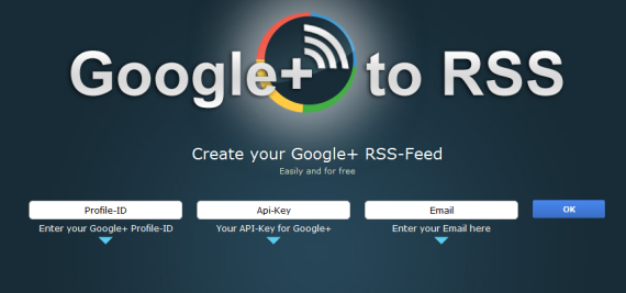 rss feed for google plus