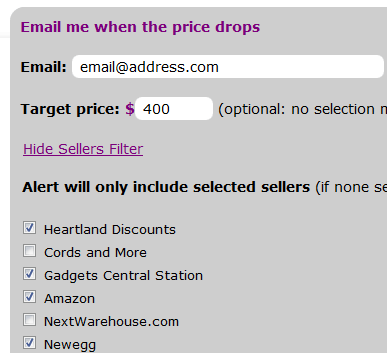 ideal chooser2   iDeal Chooser: Compare Product Prices Online & Set Price Drop Alerts