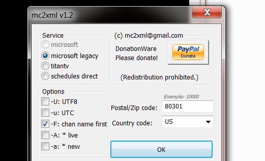 mc2xml: Easily Download & Convert TV Listings To XMLTV For
