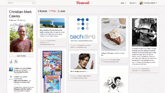 Why Pinterest Could Point To the End Of Twitter (Opinion) muo pinterest screen