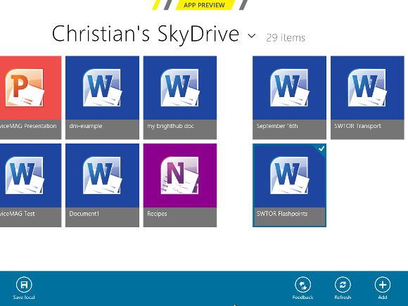 Download images from the SkyDrive cloud in Windows 8