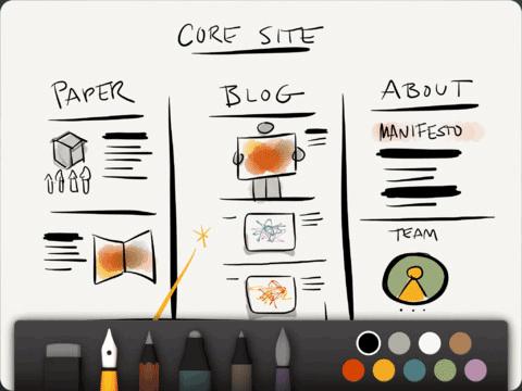 sketching on the ipad