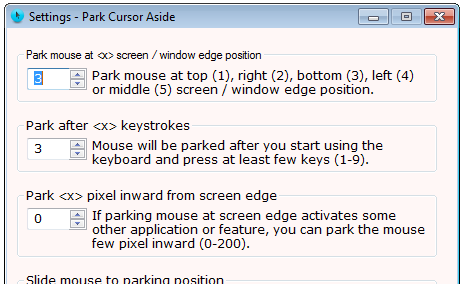 hide mouse cursor when typing