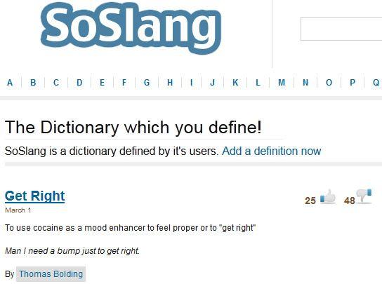 dictionary of slang