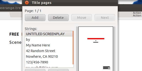 screenplay writing software