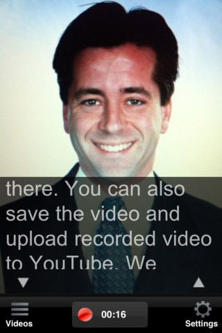 video recording   Video Recording Teleprompter: Practice Speeches By Recording With The Front Facing iPhone Camera [iOS]