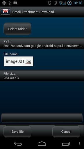 download gmail attachment android