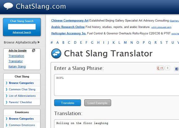 chat slang dictionary