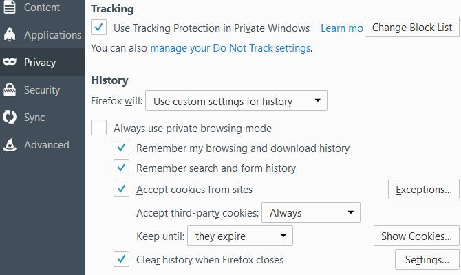 How to Manually & Automatically Clear Your Browser History Firefox Privacy Options