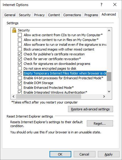 How to Manually & Automatically Clear Your Browser History IE 11 Advanced Internet Options