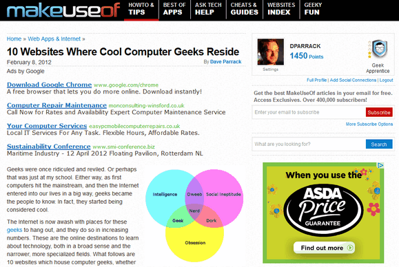 websites for geeks
