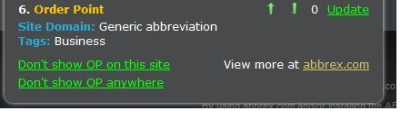 Order   ABBREX: Automatically Reveal The Meanings Of Abbreviations On Webpages [Firefox & Chrome]