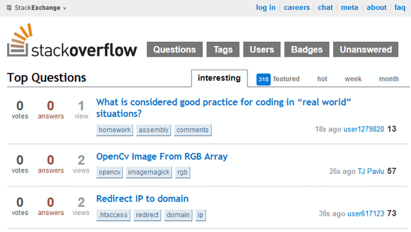10 Websites Geeks of All Stripes Should Bookmark StackOverflow Homepage