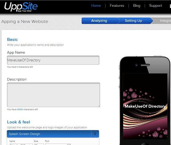 convert a website to a mobile app