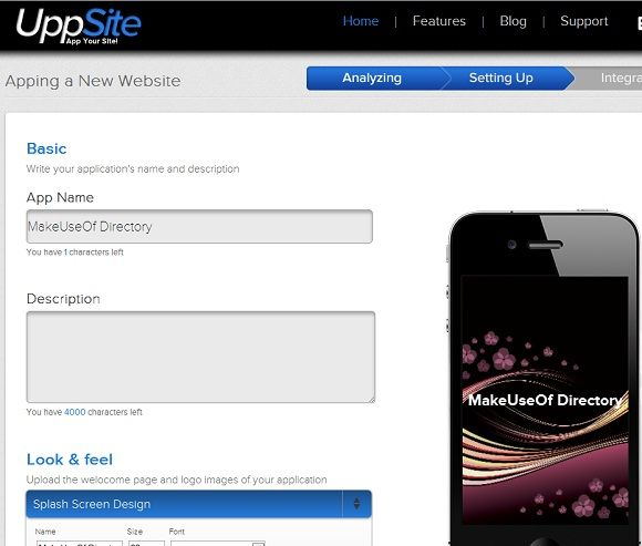 convert a website to a mobile app