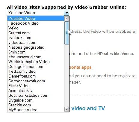VideoGrabber: A Web App To Download Videos Off Streaming Sites VideoSites
