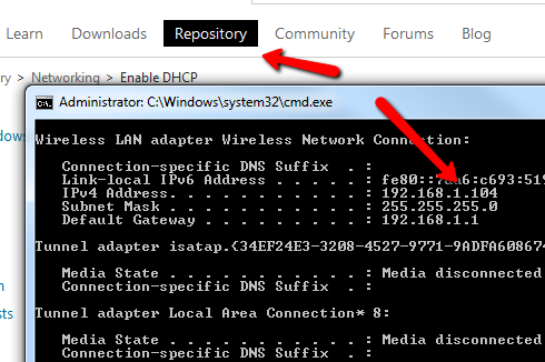 change network settings script