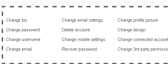 social network settings