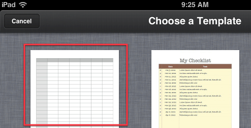 How To Create A Cool Looking Form In Numbers '09 [iOS] choose template1