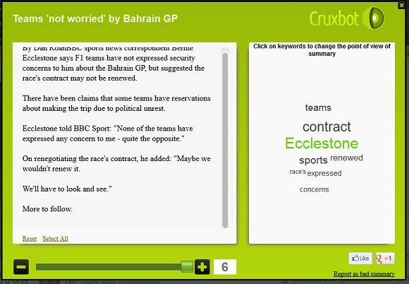 cruxibot   Cruxbot: Easily Summarize Webpages