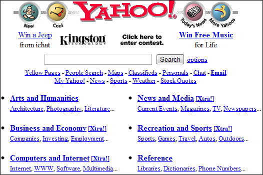 how websites used to look like