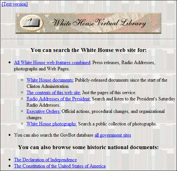 how websites used to look