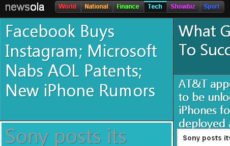 visual google news