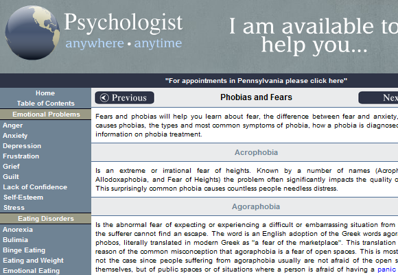 list of phobias