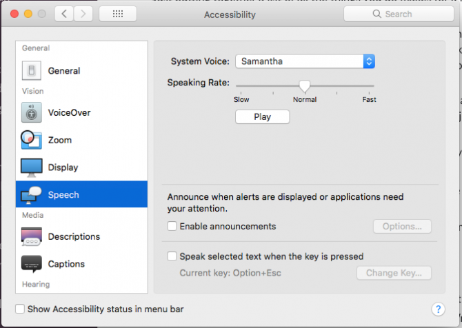 How To Get the Siri Voice & Make Her Say Whatever You Want sierra voice settings 670x476