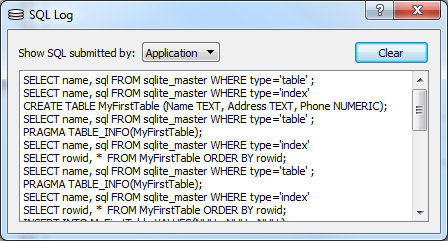 sqlite database browser