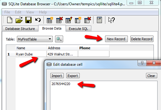 Learn SQL Or Create A Simple Database With SQLite Database Browser sqllite7