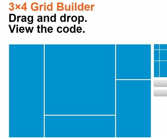 html grid builder
