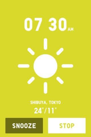 alarm clock weather